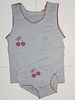 Комплект нижнего белья для девочки, мультирип, вишенка 26размер