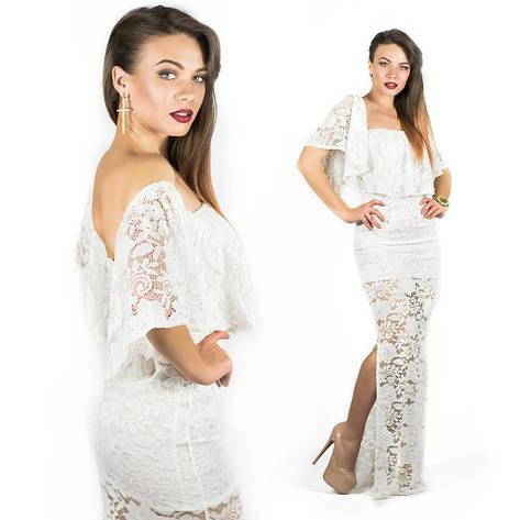 Белое платье 15545, фото 2