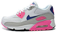 Женские кроссовки Nike Air Max 90 (pink&white), найк, аир макс
