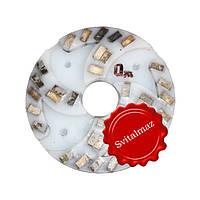 Алмазный двухрядный шлифовальный круг по камню Ф160 мм. №0 из пластмассы на прижимные станки по камню., фото 1