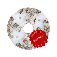 Алмазный двухрядный шлифовальный круг по камню Ф160 мм. №1 из пластмассы на прижимные станки по камню., фото 1