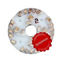 Алмазный двухрядный шлифовальный круг по камню Ф160 мм. №2 из пластмассы на прижимные станки по камню., фото 1