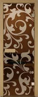 Стеклянная дверь для сауны с рисунком 70х200 Киев, Харьков, Одесса, Днепропетровск, Львов