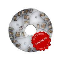 Алмазный двухрядный шлифовальный круг по камню Ф160 мм. №4 из пластмассы на прижимные станки по камню., фото 1