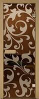 Стеклянная дверь для сауны с рисунком 70х210 Киев, Харьков, Одесса, Днепропетровск, Львов