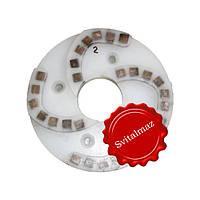 Пластмассовый алмазный однорядный шлифовальный круг для камня Ф160 мм. №2 (дельфин) на прижимные станки., фото 1