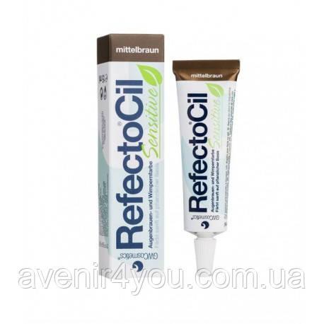 Краска для бровей и ресниц RefectoCil Sensitive Eyelash & Eyebrow Tint Medium Brown. Коричневый 15 мл
