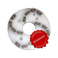 Пластмассовый алмазный однорядный шлифовальный круг для камня Ф160 мм. №4 (дельфин) на прижимные станки., фото 1