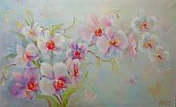 «Орхидея - прекрасна и изящно горделива» картина маслом