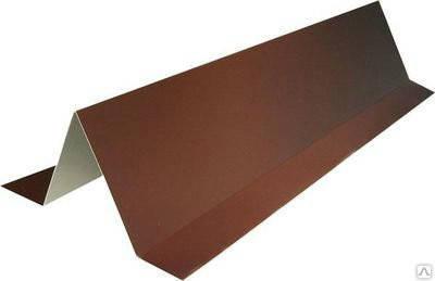 Планка снегодержатель, для кровли RAL 8017, коричневая, фото 2