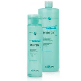 Kaaral Energy Shampoo Інтенсивний енергетичний шампунь з ментолом 1000 мл.
