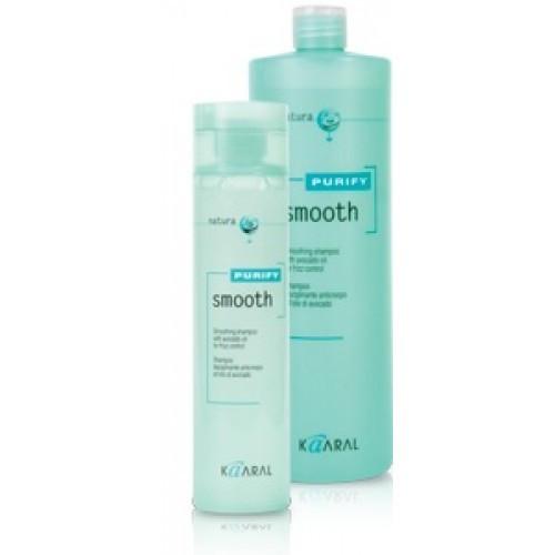 Kaaral Purify Smooth Shampoo Шампунь для кучерявого волосся з маслом авокадо 3800 мл.