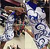 Облегающее платье с воротником и ярким принтом, фото 3