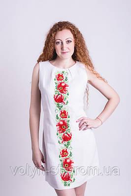 Платье вышитое без рукавов Чарівна квітка