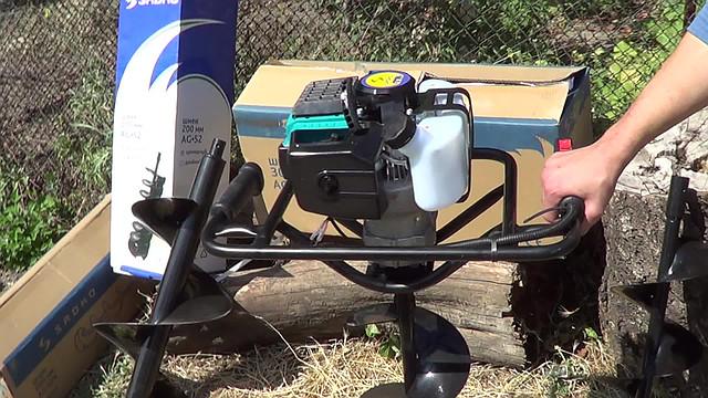 бензиновый мотобур sadko ag-52n фото 1 двигатель
