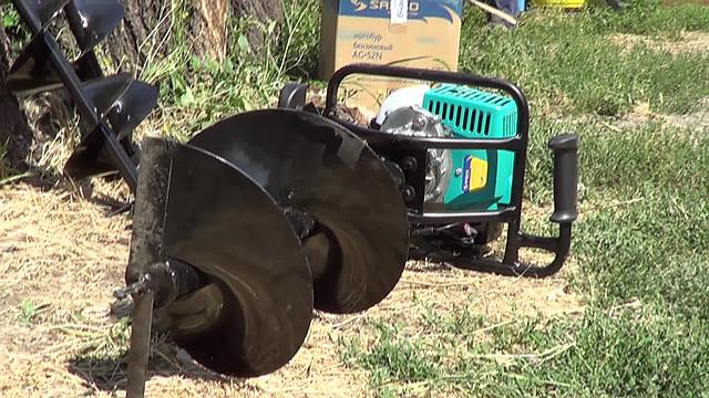 бензиновый мотобур sadko ag-52n фото 3