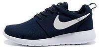Женские кроссовки Nike Roshe Run Dark Blue, найк роше ран