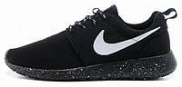Женские кроссовки Nike Roshe Run Black Dalmatin, найк роше ран