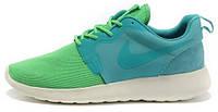 Женские кроссовки Nike Roshe Run Green/Cyan, найк роше ран