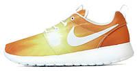 Женские кроссовки Nike Roshe Run Orange Light, найк роше ран