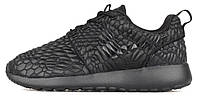 Женские кроссовки Nike Roshe Run Black Texture, найк роше ран