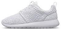 Женские кроссовки Nike Roshe Run White Texture, найк роше ран
