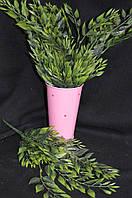 Листья акации - искусственная добавка к цветам, в-40, 7веток, (35/32) (цена за 1 шт. + 3 гр.)