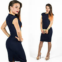 Темно-синее платье 15544