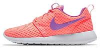 Женские кроссовки Nike Roshe Run Orange/Purple, найк роше ран