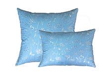 Подушка пуховая, тик хлопок 100%, Голубое перышко (60х60 см.)