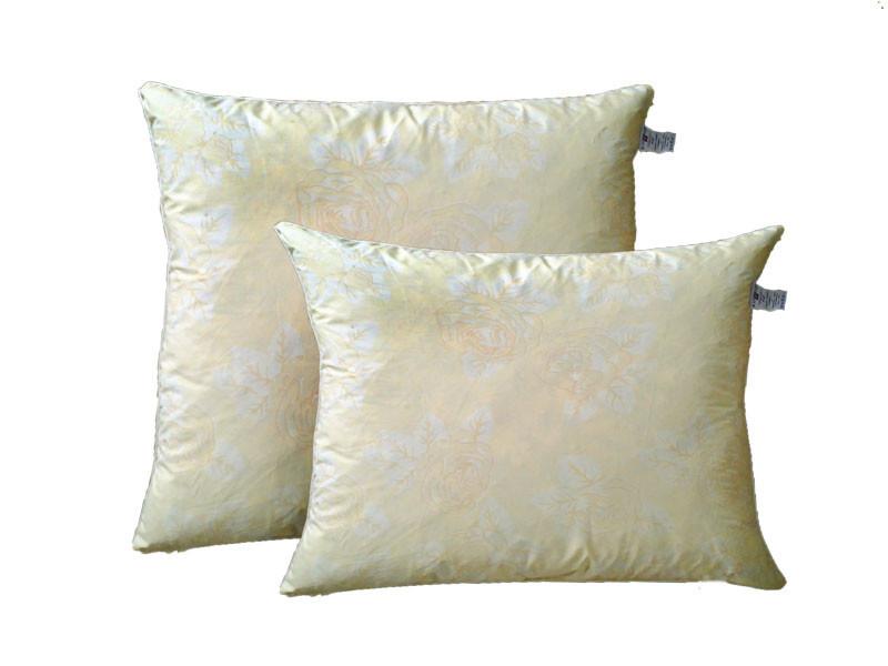 Подушка пуховая, тик хлопок 100%, Золотая роза (50х50 см.)