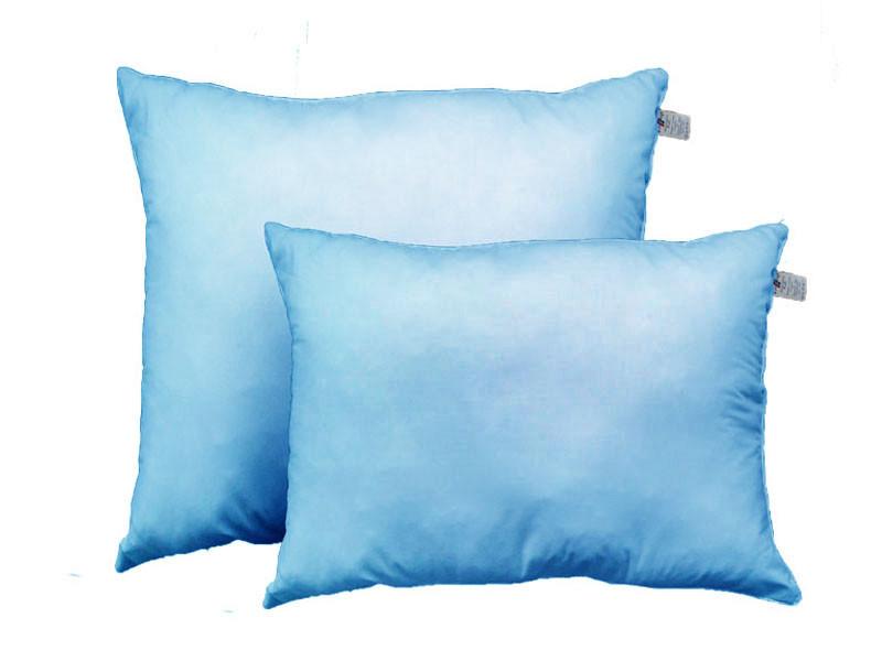 Подушка с шариковым силиконом, Голубое облако, бязь 100% хлопок (50х70 см.)