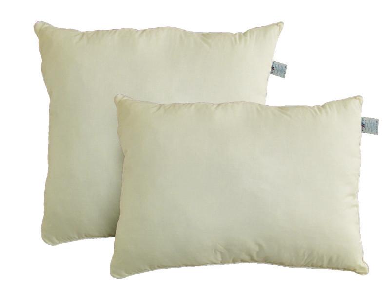 Подушка с шариковым силиконом, Бежевое облако, бязь 100% хлопок (50х50 см.)
