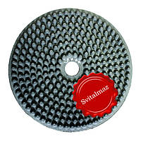 Алмазные резиновые полировальные пупырышки Инватех Ф250 мм. №3+++ для обработки мягкого камня базальта.
