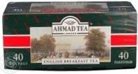 """Чай """"Ahmad"""" английский к завтраку 40 пакетиков"""