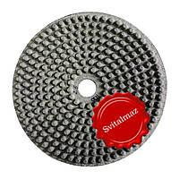 Алмазные резиновые полировальные пупырышки Инватех Ф250 мм. №8 для обработки природного гранита и мрамор.