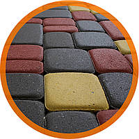 Поребрик фигурный квадратный цвет персиковый (500x80x250)