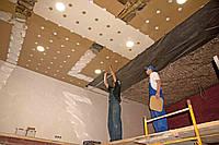 Монтаж металлического подвесного потолка