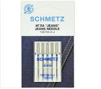 """Иглы Schmetz """"Jeans"""" №100 для джинсовых и плотных тканей"""
