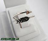 Кольцо  женское серебряное Стрела, фото 2