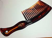 РАСЧЕСКА плоская для волос карамельная