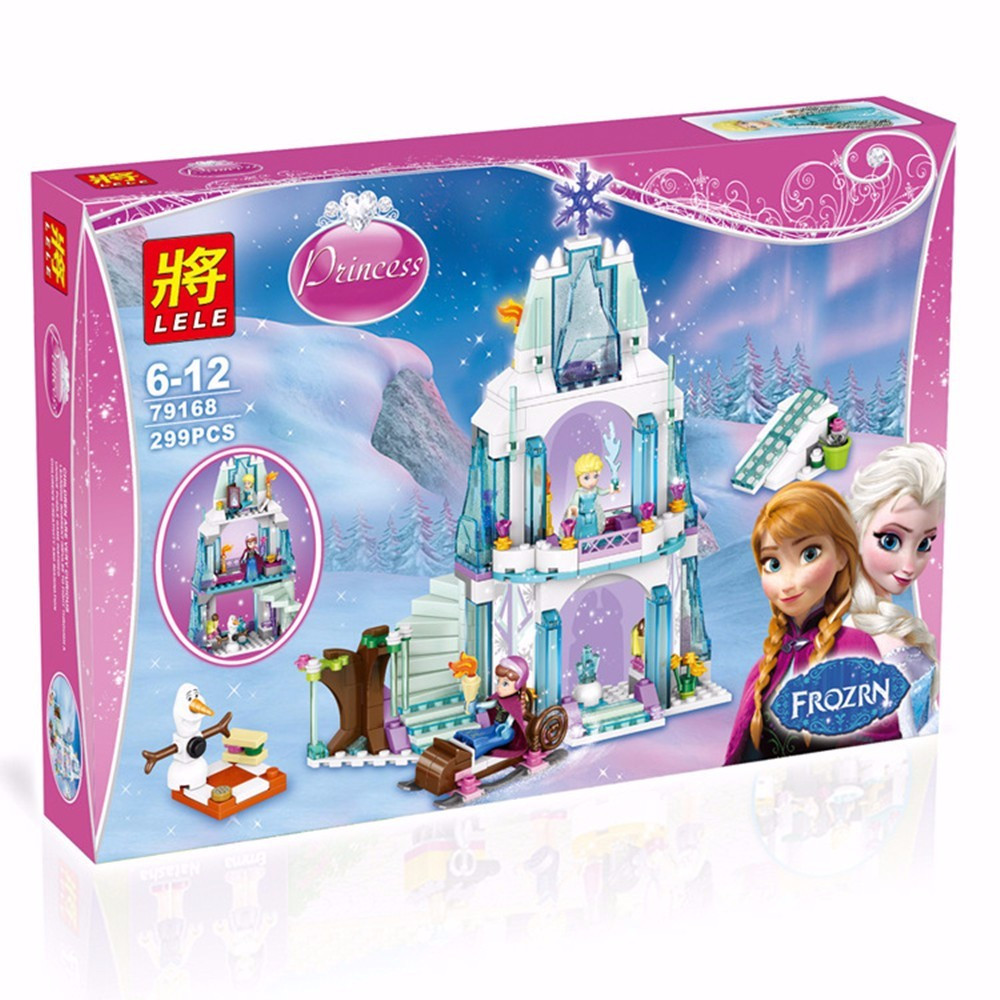 """Конструктор Lele 79168  (аналог Lego Disney Princess 41062) """"Ледяной дворец Эльзы"""", 299 дет"""