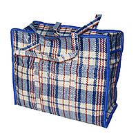 Хозяйственная сумка клетчатая полипропиленовая 30х36х16 см