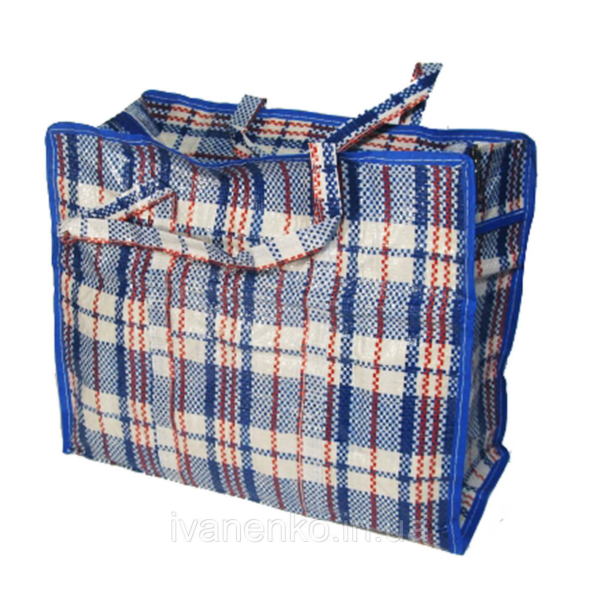 38f689cf0703 Хозяйственная сумка клетчатая полипропиленовая 45х50х25 см, цена 50,20  грн., купить в Харькове — Prom.ua (ID#289087953)