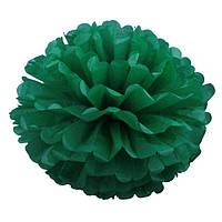 Помпоны из бумаги тишью зеленого цвета, 35см