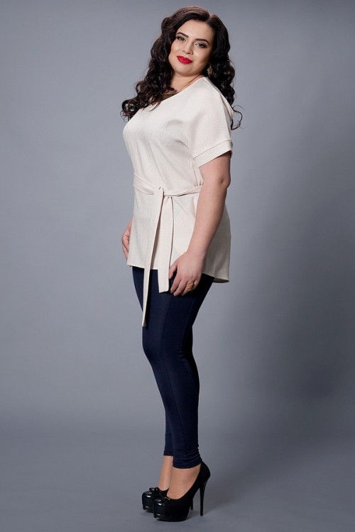 Женская блуза-туника больших размеров, 52-54,56-58