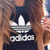"""Женская футболка """"Adidas"""" черная OS-257"""