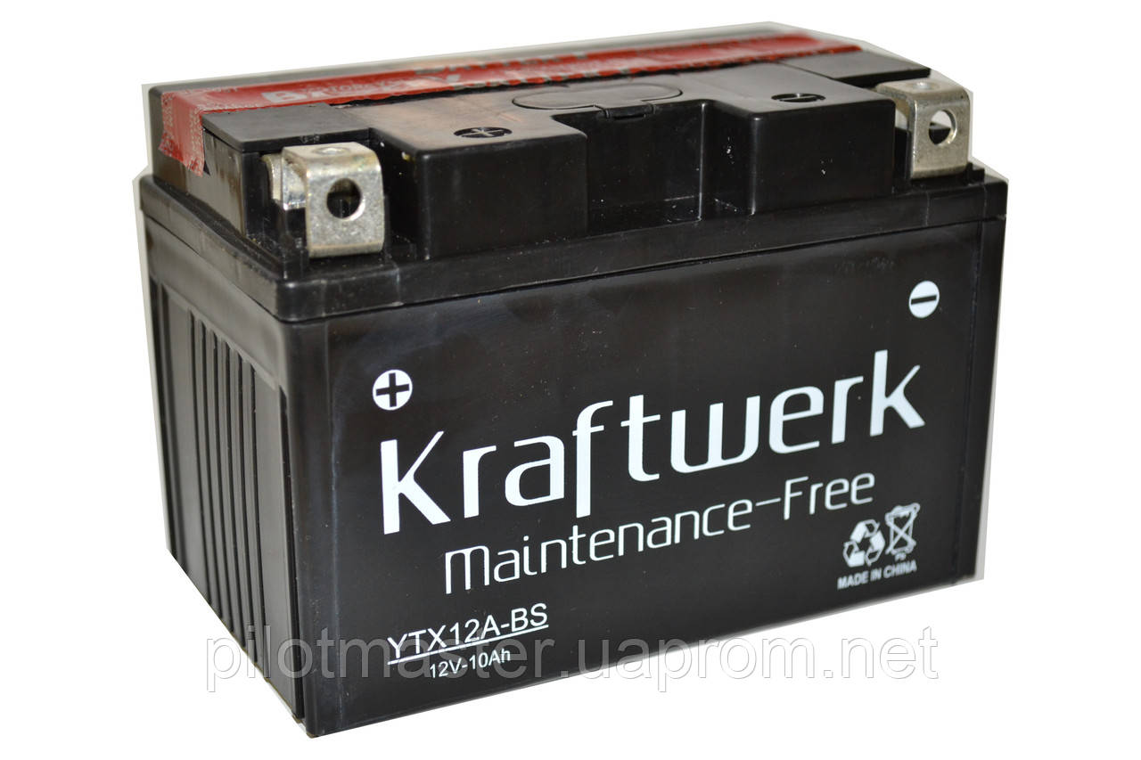 Аккумулятор мото Kraftwerk YTX12A-BS 10A/h 120A - Интернет-магазин PilotMaster  в Киеве