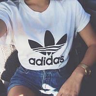 """Женская футболка """"Adidas"""" белая OS-258"""