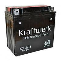 Аккумулятор мото Kraftwerk YTX14-BS 12A/h 180A